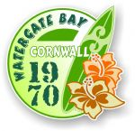Cornwall Watergate Bay 1970 Surfer Surfing Design Vinyl Car sticker decal 97x95mm